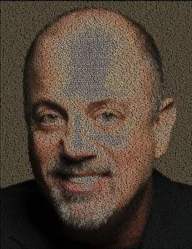 Billy Joel Song List Mosaic by Paul Van Scott