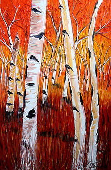 Aspen Tree's 2 by Portland Art Creations