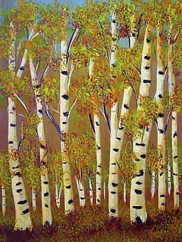 Birch trees-3 by Maggie Ullmann