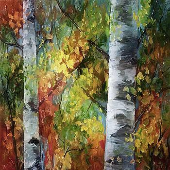 Birch Trees - III by Art OLena