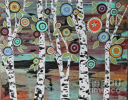Birch Woods by Karla Gerard