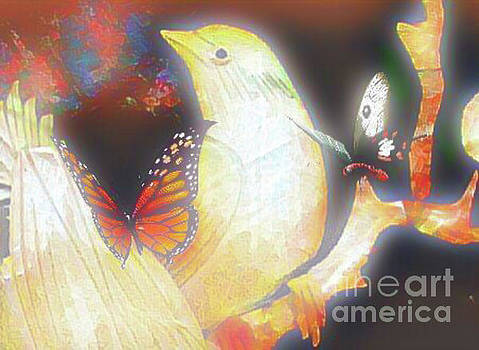 Bird and Butterflies by Gayle Price Thomas