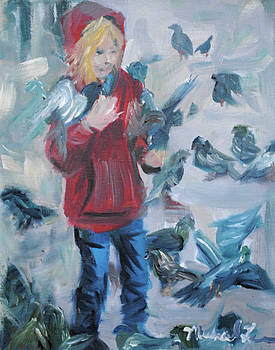 Bird Girl Of St Marks Square by Michael Lee