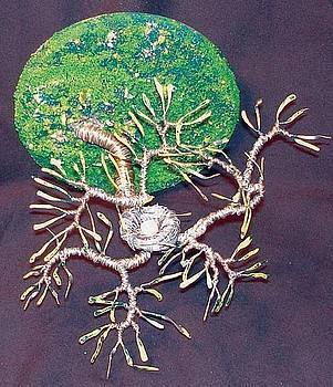 Bird Nest No. 5 - Wire Sculpture by Sal Villano