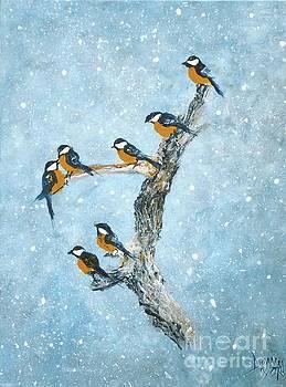Bird Snowfall-2 by Donna Dixon