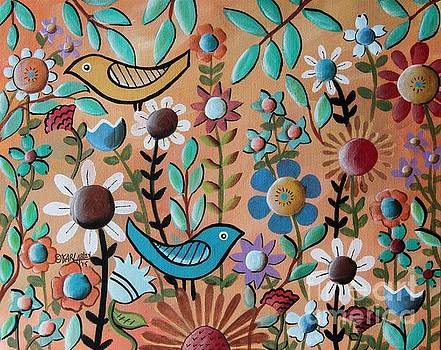 Birds and Flowers 1 by Karla Gerard