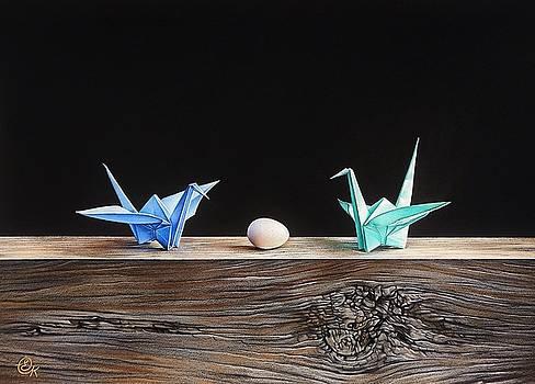 Birds by Elena Kolotusha