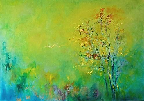 Birds in summer light by Demeter Gui