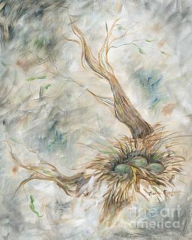 Bird's Nest in Gray by Nadine Rippelmeyer