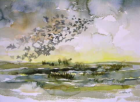 Birds rising I by Julianne Felton