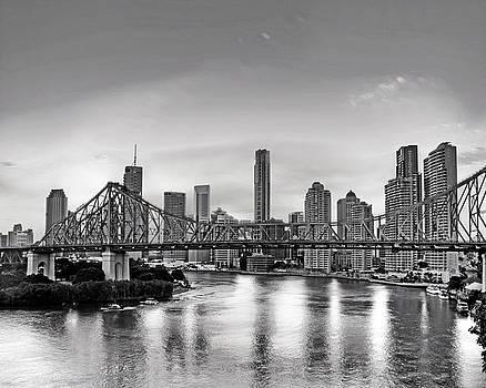 Chris Smith - Black and White Brisbane Landscape
