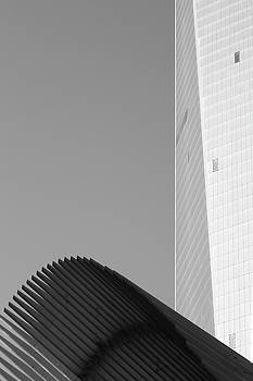 Black and White Freedom Tower Abstract by Brooke T Ryan