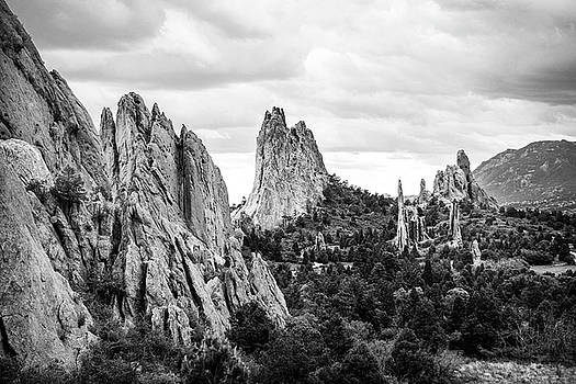 Black and White Garden of the Gods by Marilyn Hunt