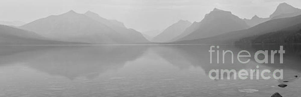 Adam Jewell - Black And White Lake McDonald Sunset