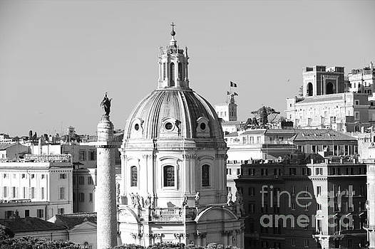 Black and White Rooftop in Rome by Stefano Senise