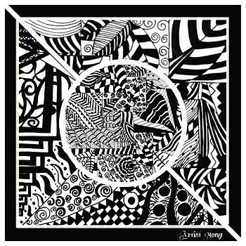 Black And White  #art #painting by Eman Allam