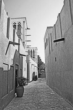 Chris Smith - Black and WhiteTraditional Middle Eastern Street in Dubai