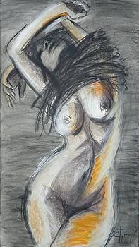 Black Dress 2 - Female Nude by Carmen Tyrrell