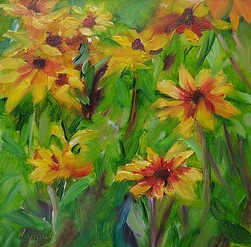 Black Eyes Susans by Carol Hopper