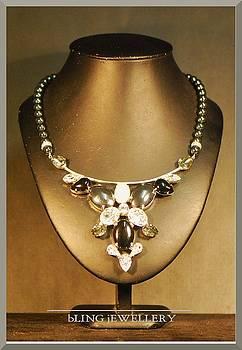 Black Onyx and Hematite Necklace by Janine Antulov