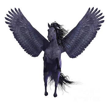 Corey Ford - Black Pegasus on White