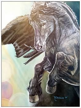 Black Pegasus  by Rayna DeHoog