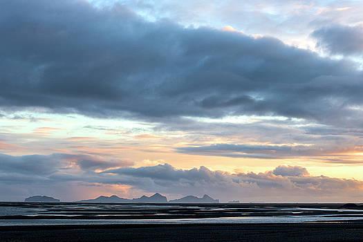 Black Sand Sunset Iceland by Brad Scott