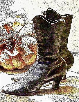 Black Victorian Boots by Danielle  Parent