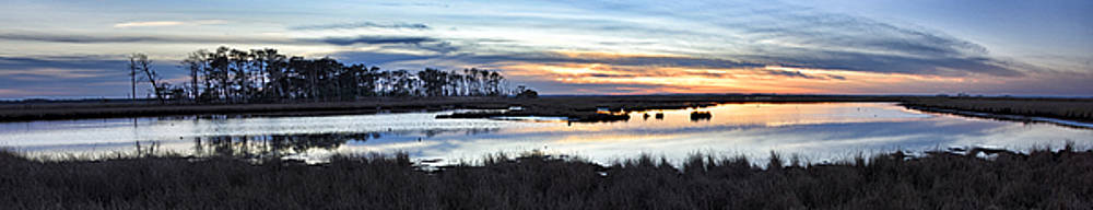 Blackwater National Wildlife Refuge - Sunset Panorama by Brendan Reals