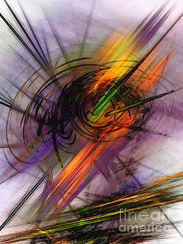 Blazing Abstract Art by Karin Kuhlmann