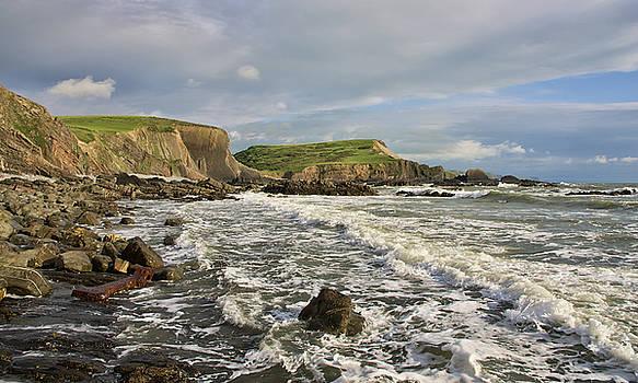 Blegberry Beach In North Devon by Pete Hemington