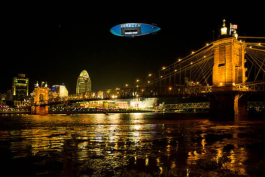 Blimp Over The City by Randall Branham