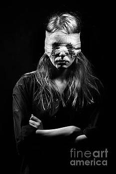 Blind Terrified Woman by Aleksey Tugolukov