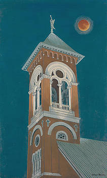 Blood Moon Over Saint Mary's  by David Hinchen