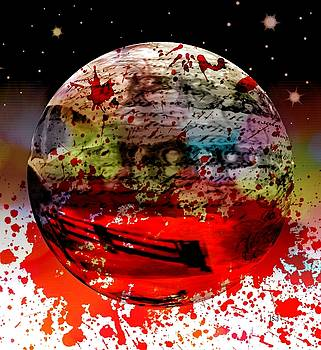Bloodied Sphere by Jan Steadman-Jackson
