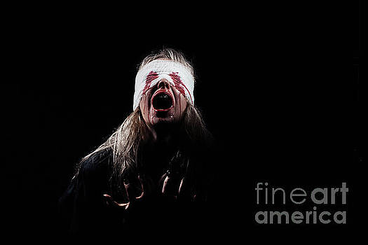 Bloody Girl Screaming by Aleksey Tugolukov