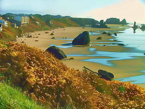 Blooming Bandon Watercolor by Wendy McKennon