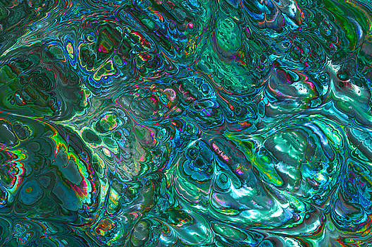 Blue Abalone Abstract by Frank Lee Hawkins