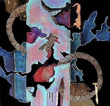 Blue Abstract by JAXINE Cummins