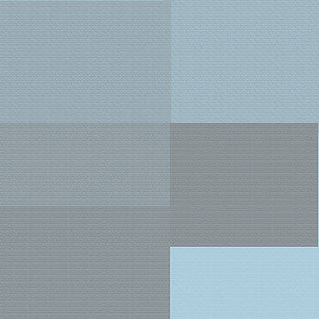 Blue and Grey Squares  by Kate Farrant
