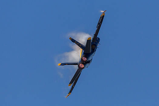Blue Angel Condensation and Burn  by John Daly