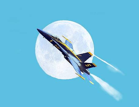 Blue Angel For T-Shirt by Brian Wallace