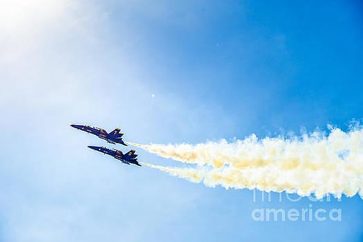 Blue Angels into the Sun by Jim DeLillo