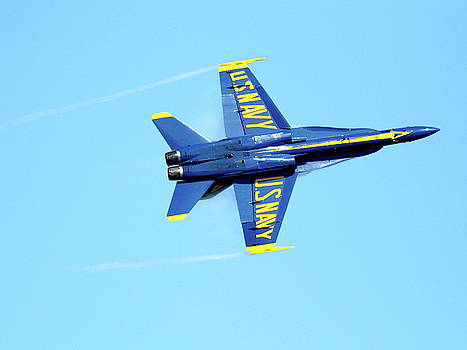Wingsdomain Art and Photography - Blue Angels with Wing Vapor