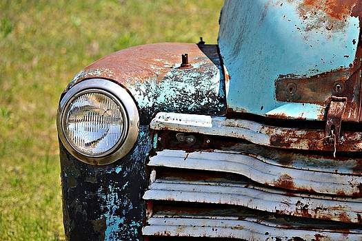 Blue Antique Chevy Grill- Fine Art by KayeCee Spain