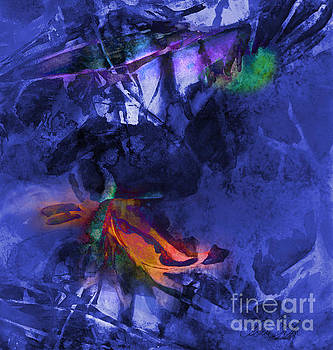 Blue Avatar Abstract by Allison Ashton