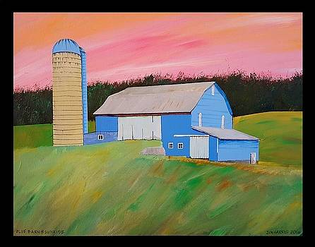 Blue Barn at Sunrise by Jim Harris