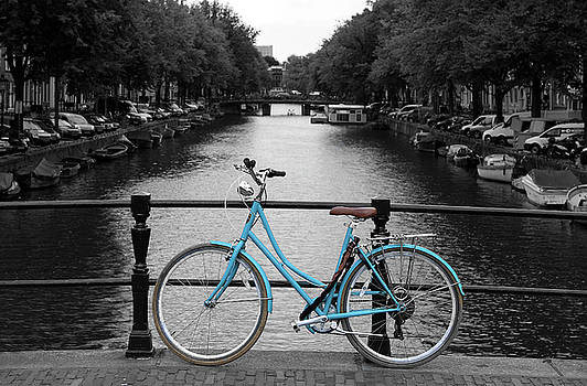 Blue Bicycle By The Canal by Aidan Moran