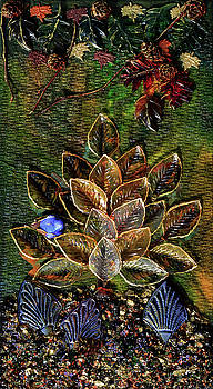 Blue Bird Singing In An Autumn Tree by Donna Blackhall