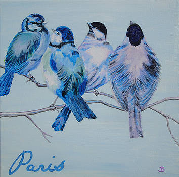 Blue Birds of Paris by Jeannette Brown
